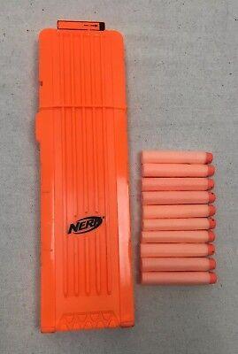 NERF 18 MAX Round Dart Gun Ammo Clip Magazine Plus 10 Rounds