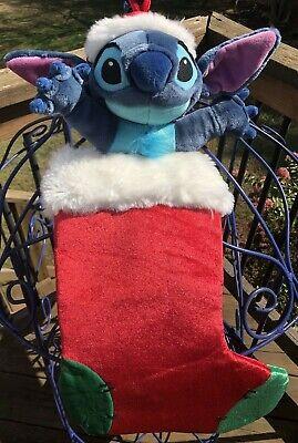 "Disney Lilo & Stitch Christmas Stocking Plush Rare 23"""