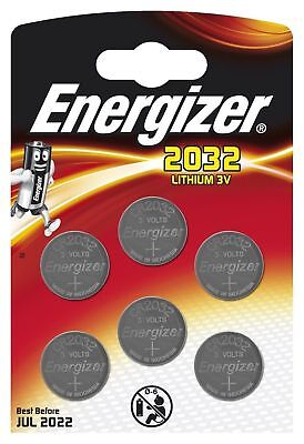 GENUINE ENERGIZER 6 X CR2032 3V  COIN CELL BATTERY DL2032, BR2032 SB-T15
