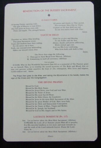 RARE High-Church Anglican BENEDICTION OF THE HOLY SACRAMENT Altar Card