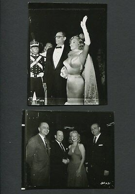 2 Vintage Photos Of Marilyn Monroe At Events