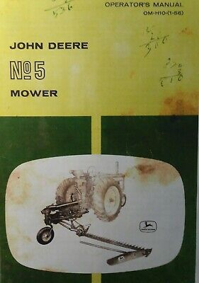 John Deere Ag Farm Tractor No. 5 Caster Sickle Mower Owner Maintenance Manual