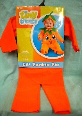 Halloween  Lil Punkin Pie TODDLER Costume SZ 12 - 18 mth CHILD New PUMPKIN Punkin Pie