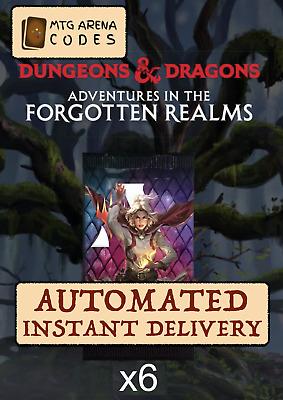 MTG Arena Adventures Forgotten Realms 6 Booster Prerelease code card AFR INSTANT