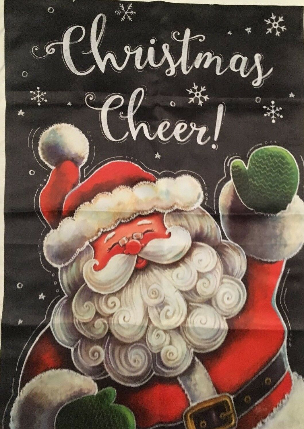 "NEW OOP CUSTOM DECOR GARDEN FLAG 12x18"" ""CHRISTMAS CHEER"" WA"
