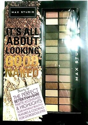 Max Studio Better Than Bare EyeShadow Palette (28 Colors) ,New In