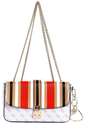 Guess Joslyn Signature Shoulder Bag Small Multi Color BNWT
