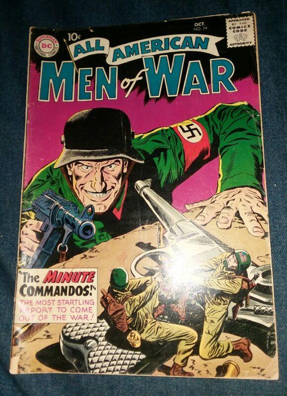 ALL AMERICAN MEN OF WAR 74 1st appearance green lantern DC SHOWCASE 22 HOUSE AD!