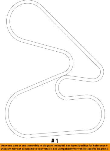 HONDA OEM 05-10 Odyssey-Serpentine Drive Fan Belt 56992R70A01