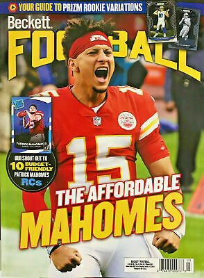 NEW MARCH 2021 BECKETT FOOTBALL PRICE GUIDE MAGAZINE w/ PATRICK MAHOMES COVER