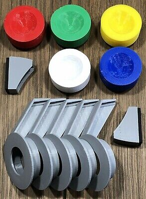 Nintendo ROB Stack Up Parts Accessories Blocks Hands Grips Complete Set NES Read