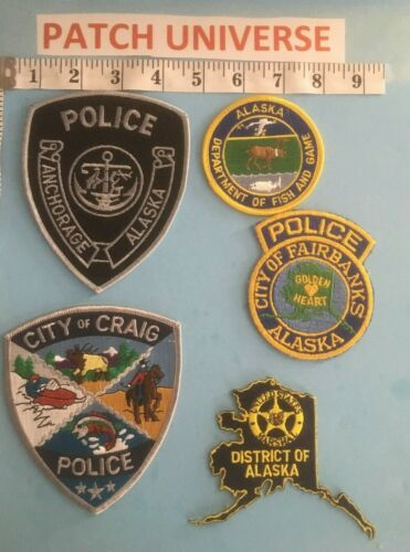 LOT OF 5  DIFFERENT ALASKA  SHOULDER PATCHES  S010