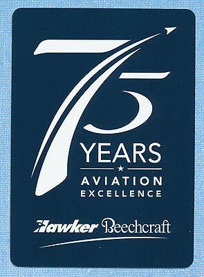 Hawker Beechcraft 75 Years Aviation playing card single queen of diamonds 1 card