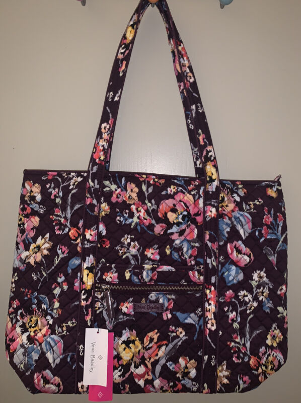 Vera Bradley Iconic Vera Tote Indiana Rose NWT $100  Large Tote XL