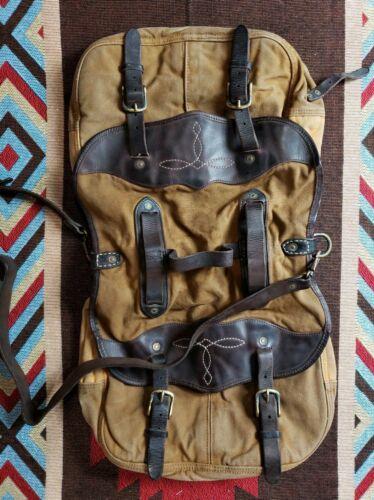 Double RL RRL Ralph Lauren Distresse Leather Canvas Messenge
