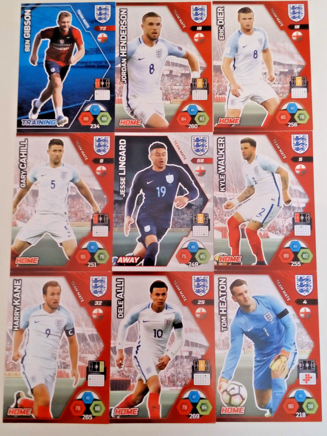 PANINI ADRENALYN XL ENGLAND 2018 1-98 BASE Team Mate CARDS World Cup
