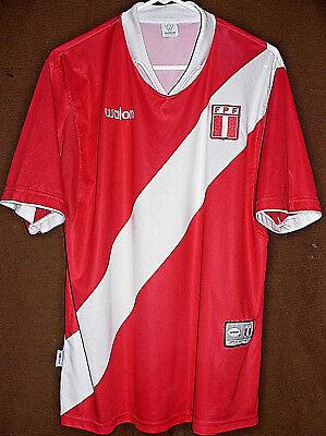 b71b0dc67 PERU WALON NATIONAL SOCCER TEAM HOME RED AWAY JERSEY Adult LARGE Size