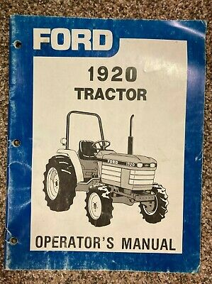 Ford Operator Owners Tractor Manual 1920