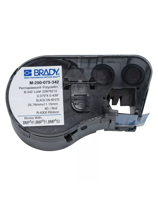 Brady M-250-075-342 Wire Marking Sleeves, Black on White, New