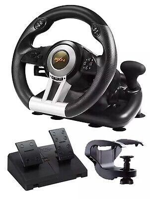 PXN V3ii Pro Racing Car Gaming Steering Wheel PS4 PC XBOX N Switch PS3 - Black