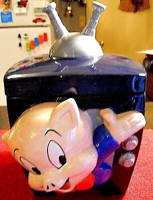 PORKY PIG TELEVISION COOKIE JAR  1995 OFFICIAL WARNER BROTHERS