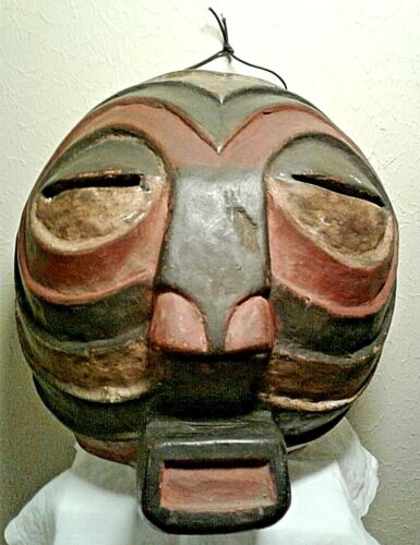 Vintage African Kifwebe / Songye Mask (Luba Tribe), Congo