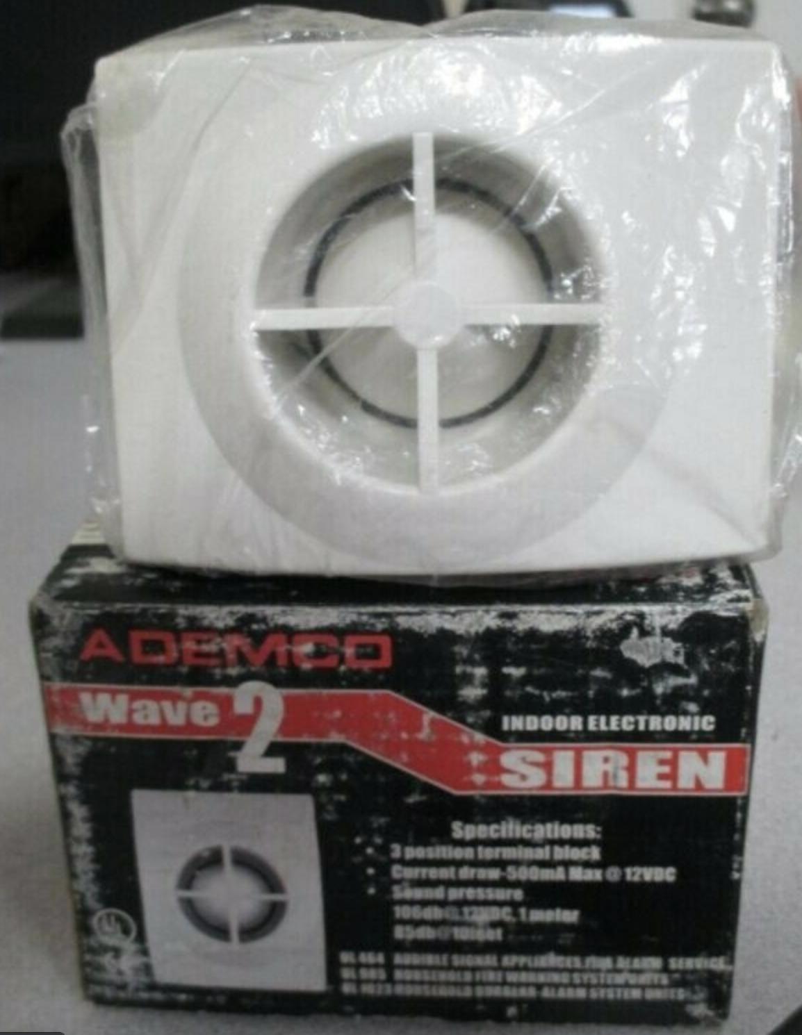 ADEMCO WAVE 2 INDOOR ELECTRONIC SIREN NEW