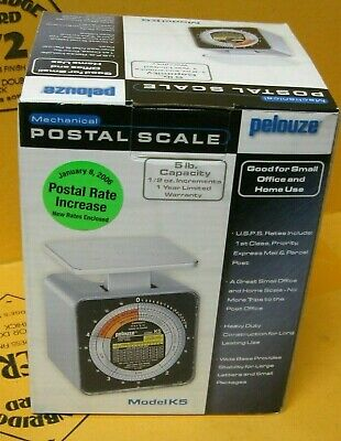 Pelouze Model K5 5 Lb Mechanical Postal Scale New