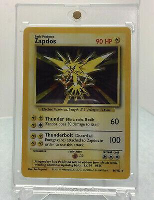 1999 Wizards Pokemon Base Set Unlimited Zapdos 16/102 Holo Rare PSA 9/10? Mint