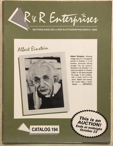 RR AUCTION CATALOG HISTORICAL NASA SPORTS ENTERTAINMENT ALBERT EINSTEIN COVER