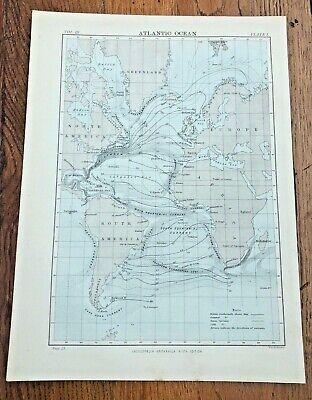 circa 1880s map of the atlantic ocean ! ( adam & charles black )