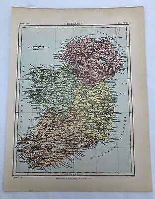circa 1880s map of ireland !  ( adam & charles black )