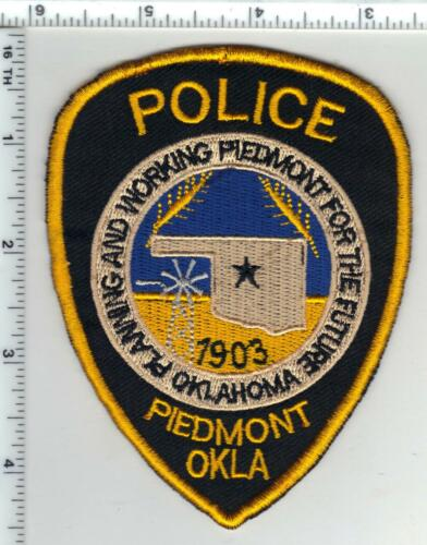 Piedmont Police (Oklahoma) Uniform Take-Off Shoulder Patch from the 1980