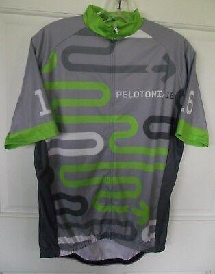 Bike Shirt Mens Pelotinia 16 Cycling Jersey Large One Goal Full Zipper S/S Gray