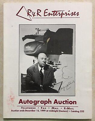 RR AUCTION CATALOG GREAT HISTORICAL NASA SPORTS, ENTERTAINMENT HITCHCOCK CVR