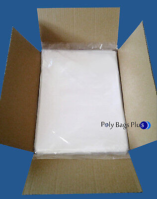2000 12x18 Clear Poly Bags 1mil Ldpe Open Top Plastic Baggie