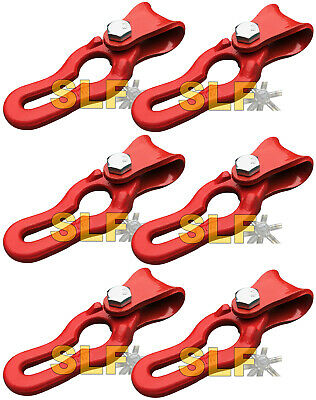 Qty 6 Logging Winch Cable Sliders 516 Chain Grab Links Norse Brand Logging New