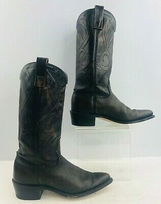 Ladies ACME Brown Leather Western Cowgirl Boots Size : 5.5