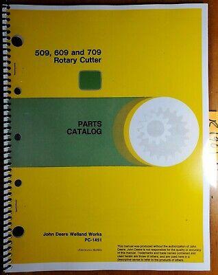 John Deere 509 609 709 Rotary Cutter Mower Parts Catalog Manual Pc-1451 1088