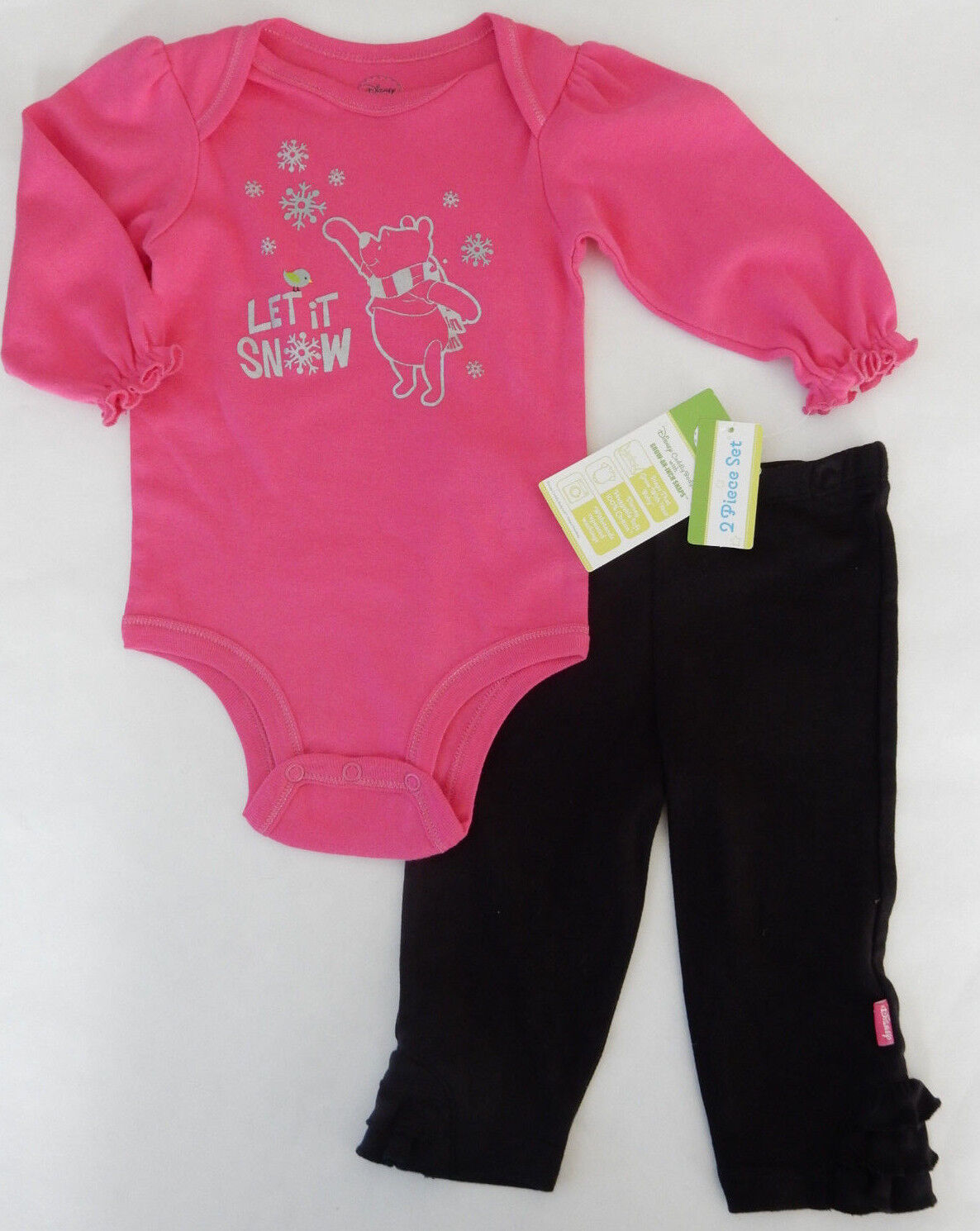 Disney 6 9 Months Whinnie the Pooh Winter Bodysuit & Pants S