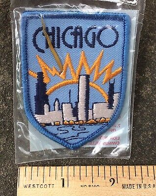 NIP City of CHICAGO Cityscape Sunrise City View Embroidered Patch by Lion