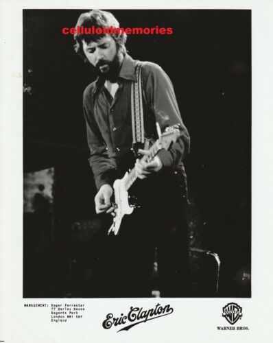 Original Vintage Photo 1980s Warner Bros Eric Clapton