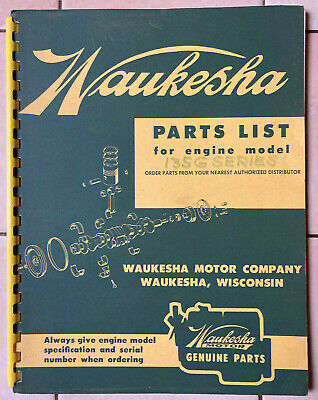 Waukesha Parts List Book For 135g Series Gas Gasoline Engines