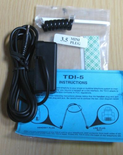 TDI-5 UNIVERSAL TELEPHONE RECORDING INTERFACE NEW