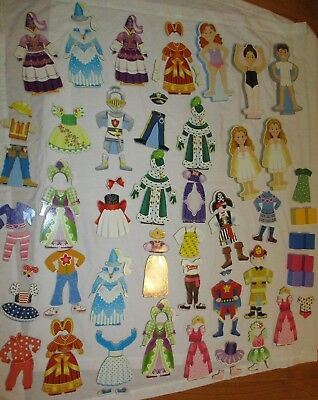 Melissa & Doug Doll Clothing - Huge Lot Melissa & Doug Magnetic Dolls Clothes Accessories Male Female Princess
