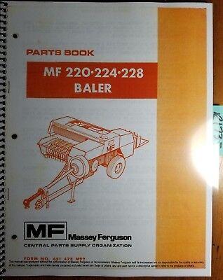 Massey Ferguson Mf 220 224 228 Baler Parts Book Manual 651 478 M92 1286