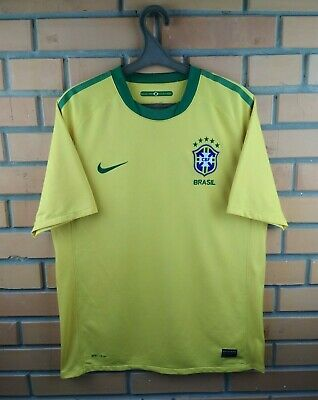 0a27aa1f7e Brazil Brasil jersey medium 2010 2011 home shirt 369250-703 soccer football  Nike