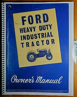Ford 4000 4140 Heavy Duty Industrial Tractor 1962-64 Owner Operator Manual 364