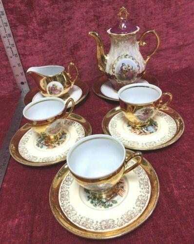 Vintage 24K Porcelain Victorian Tea Set *Sabin*Foreign*Japan* Collection #11