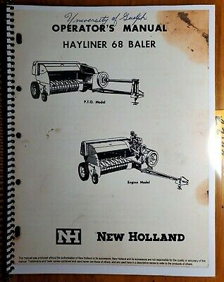 New Holland 68 Hayliner Baler Owners Operators Manual 42006811 370